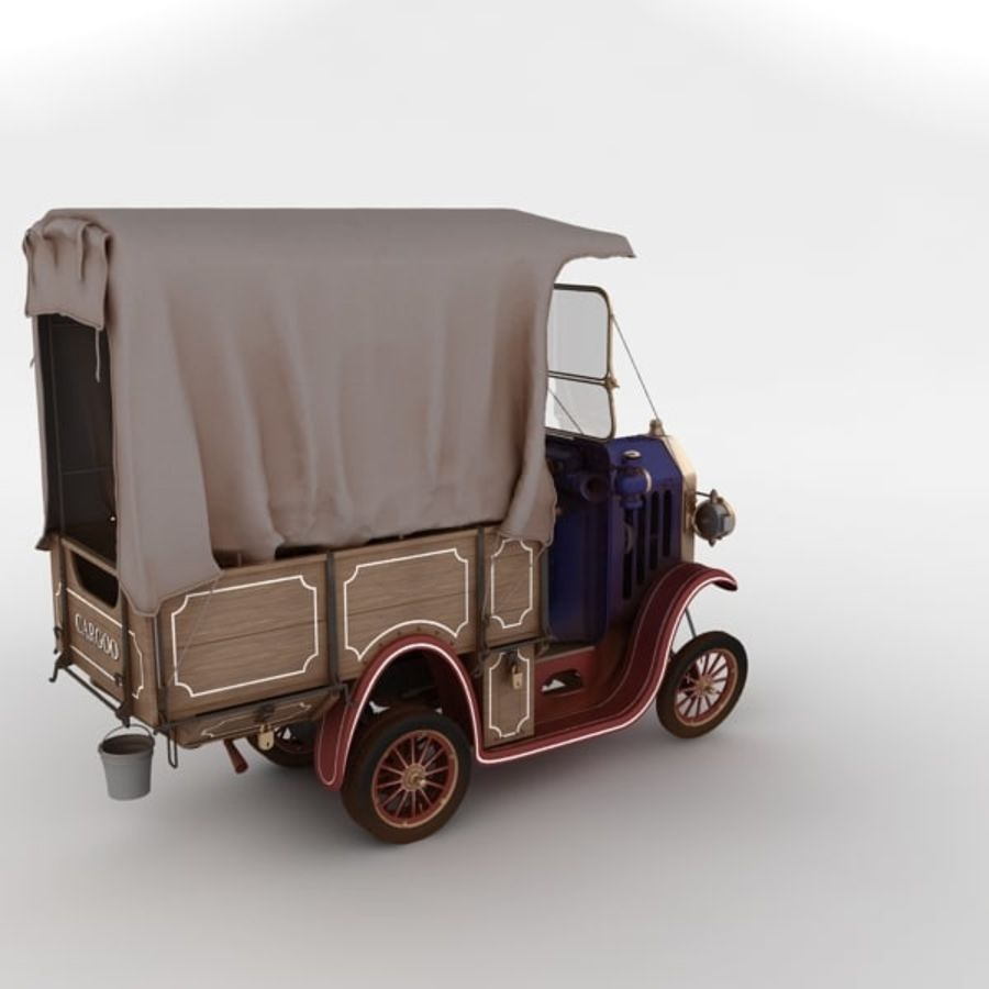 cartoon car cargo royalty-free 3d model - Preview no. 20