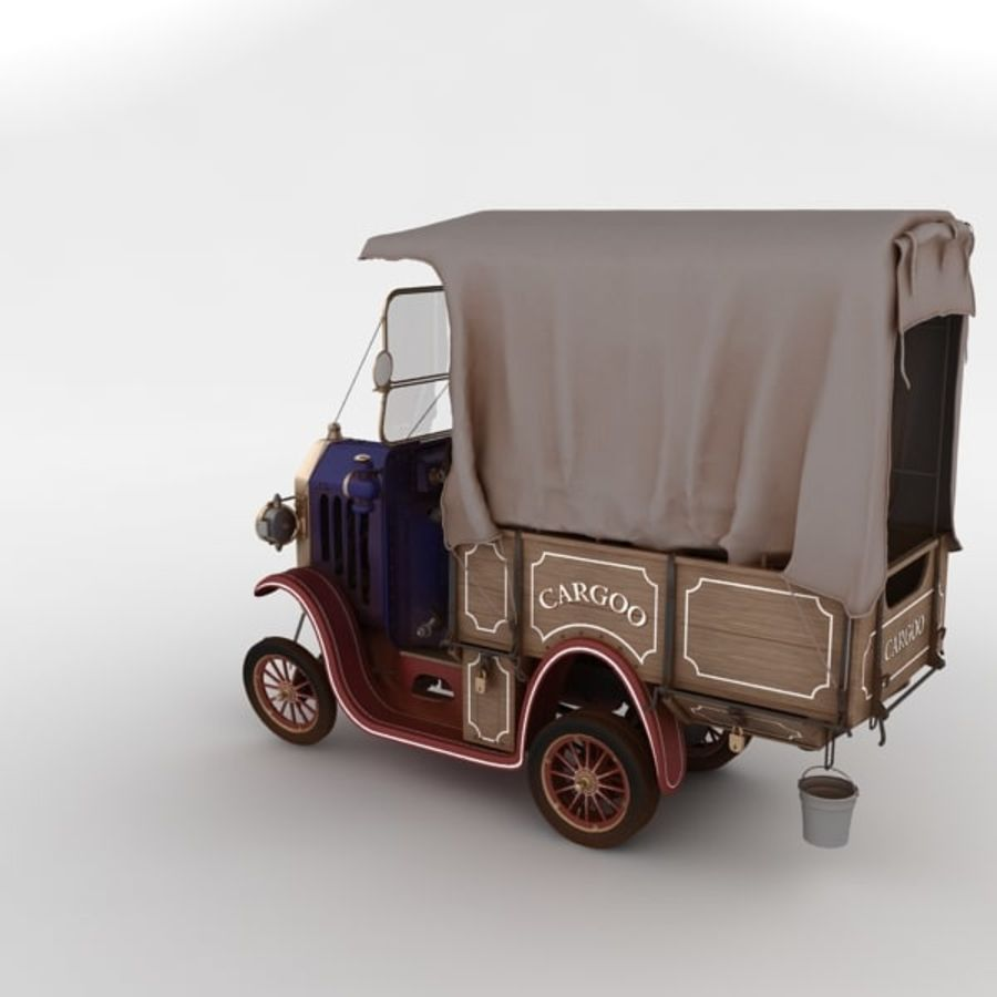cartoon car cargo royalty-free 3d model - Preview no. 31
