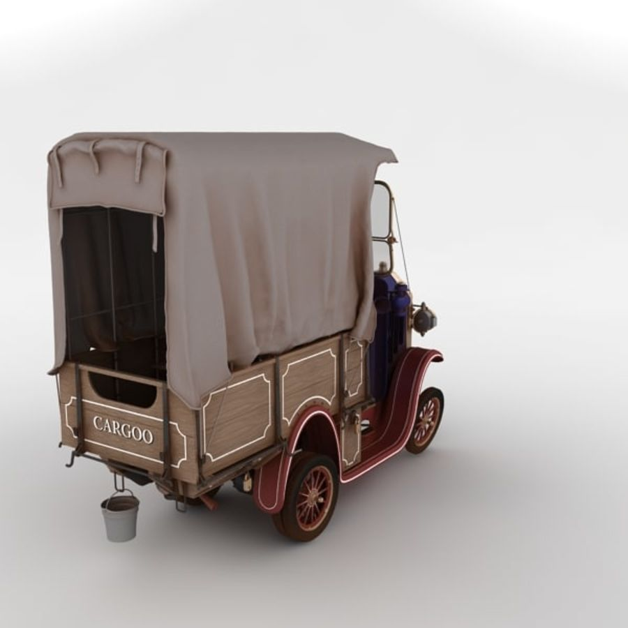 cartoon car cargo royalty-free 3d model - Preview no. 22