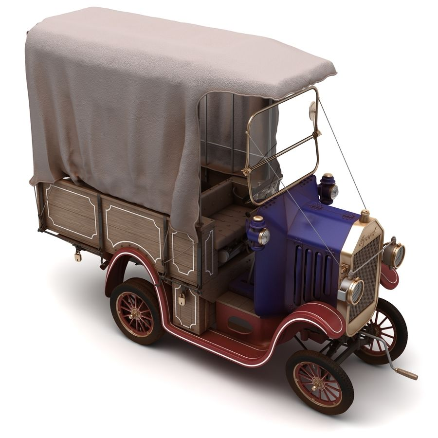 cartoon car cargo royalty-free 3d model - Preview no. 48