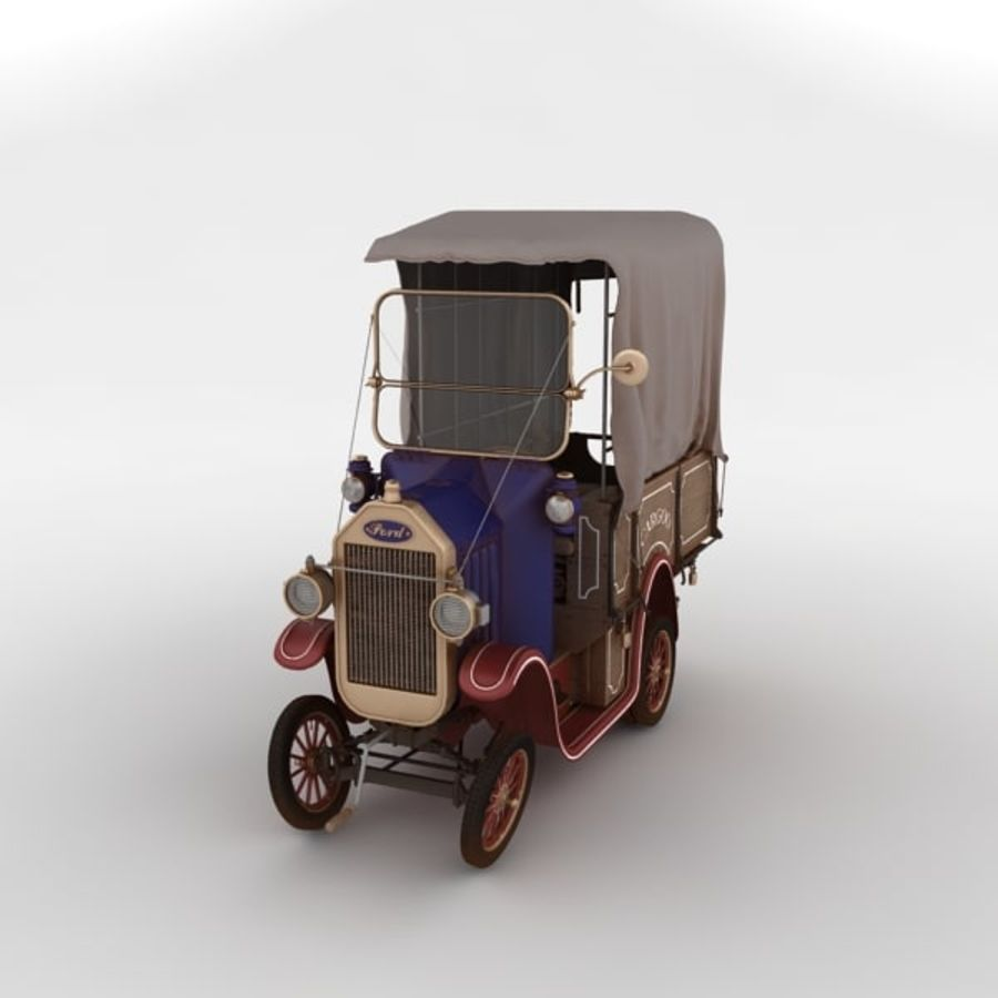 cartoon car cargo royalty-free 3d model - Preview no. 5