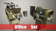 Conjunto de oficina modelo 3d