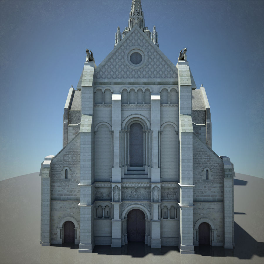Europese kathedraal met LOD royalty-free 3d model - Preview no. 12