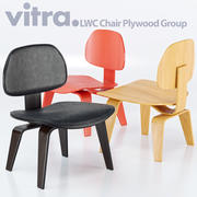 Chaise Vitra Eames LCW 3d model