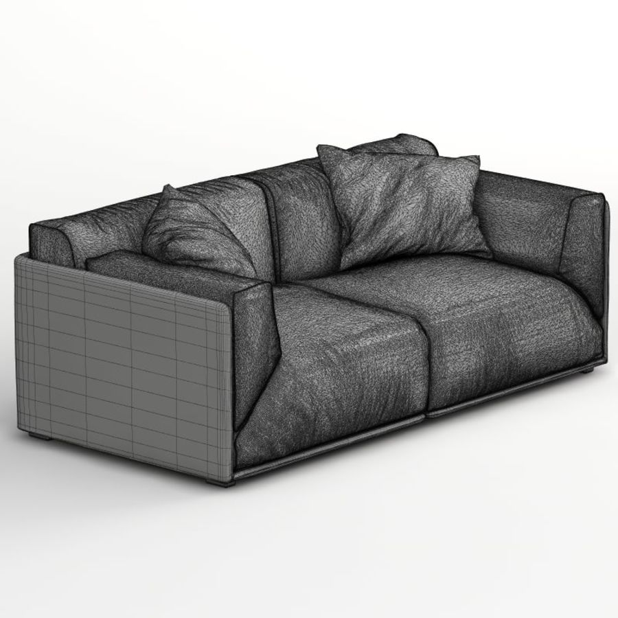 Sofa Bacon royalty-free 3d model - Preview no. 8
