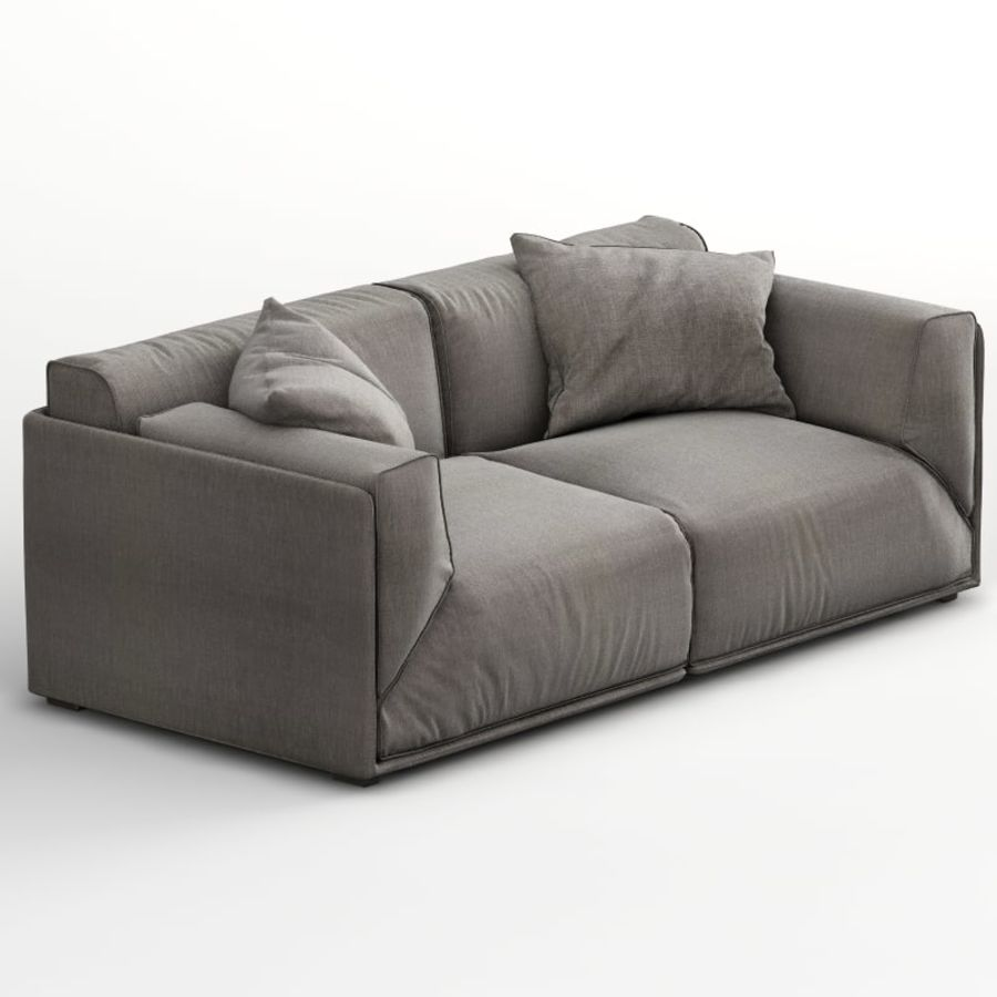 Sofa Bacon royalty-free 3d model - Preview no. 3