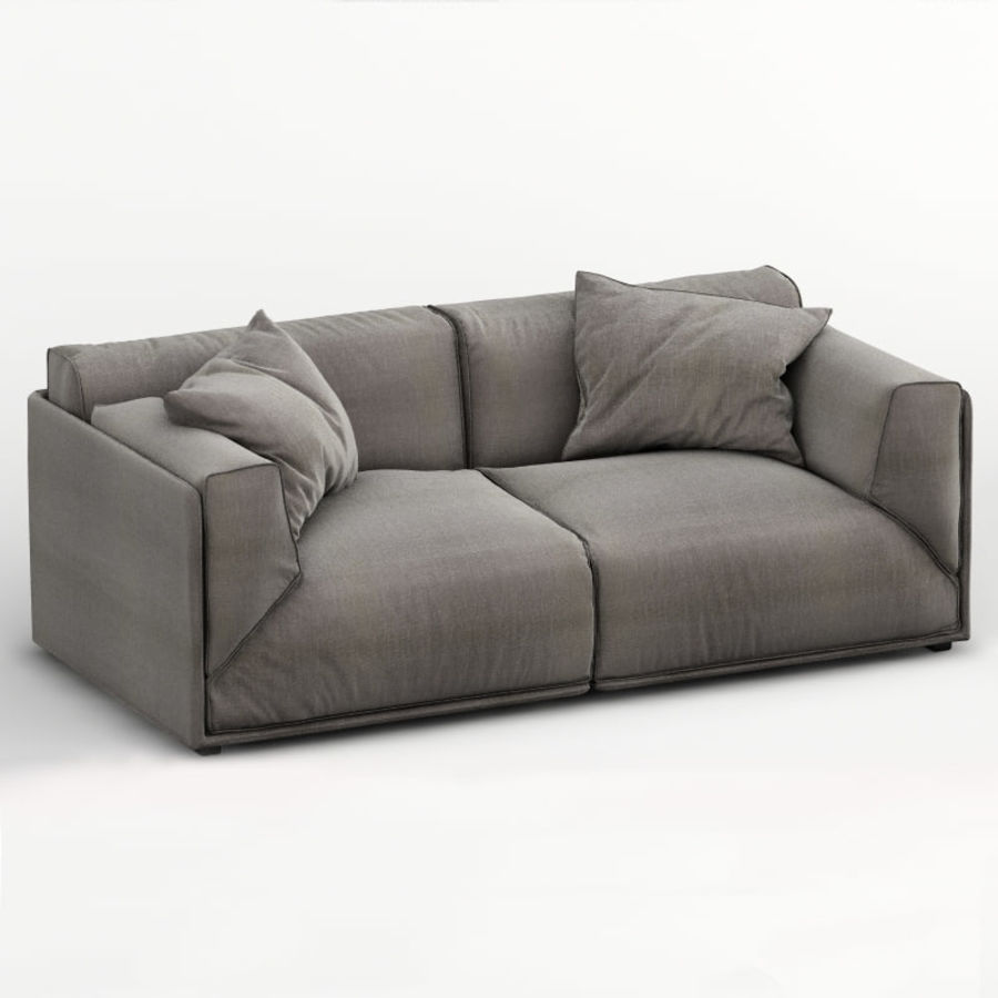 Sofa Bacon royalty-free 3d model - Preview no. 1