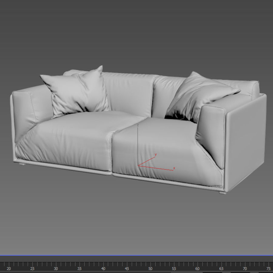 Sofa Bacon royalty-free 3d model - Preview no. 7