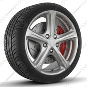 Wiger WGR0507 Rim and Tyre 3d model