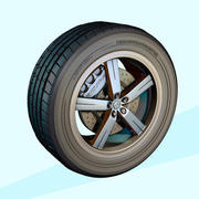 Alloy-Wheel&Tyre 3d model