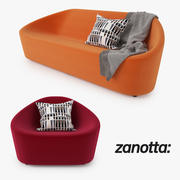 Zanotta Club Sofa en fauteuil 3d model