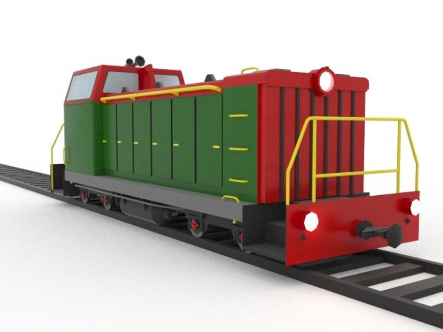 locomotive royalty-free 3d model - Preview no. 2