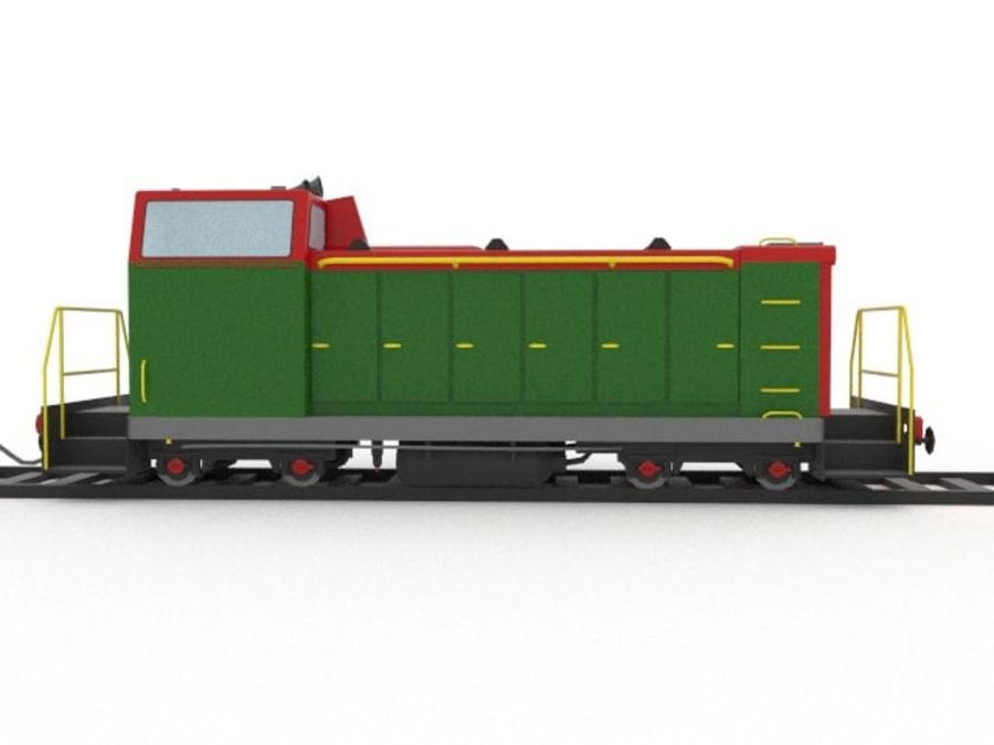 locomotive royalty-free 3d model - Preview no. 4
