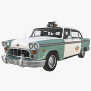 Checker Taxicab 1982 Rigged Model 3D 3d model