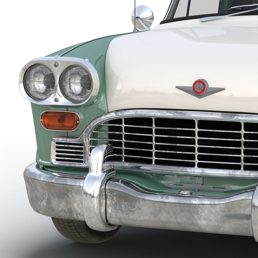 Checker Taxicab 1982 royalty-free 3d model - Preview no. 26