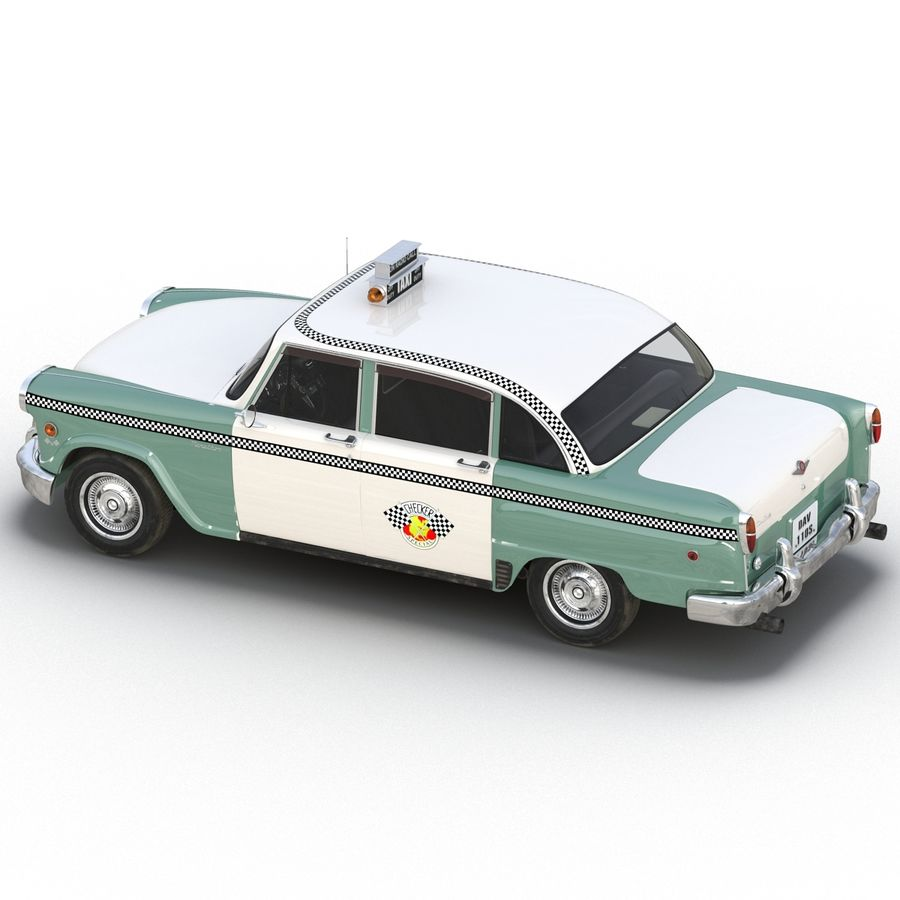 Checker Taxicab 1982 royalty-free 3d model - Preview no. 14