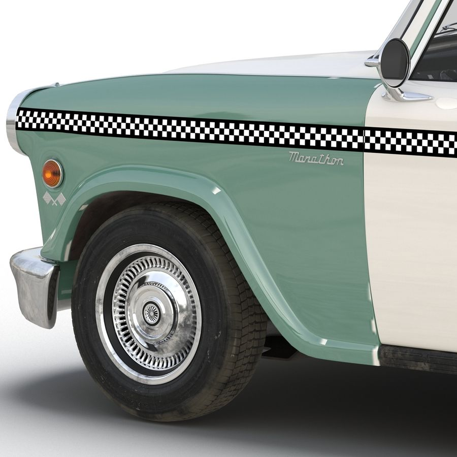 Checker Taxicab 1982 royalty-free 3d model - Preview no. 24