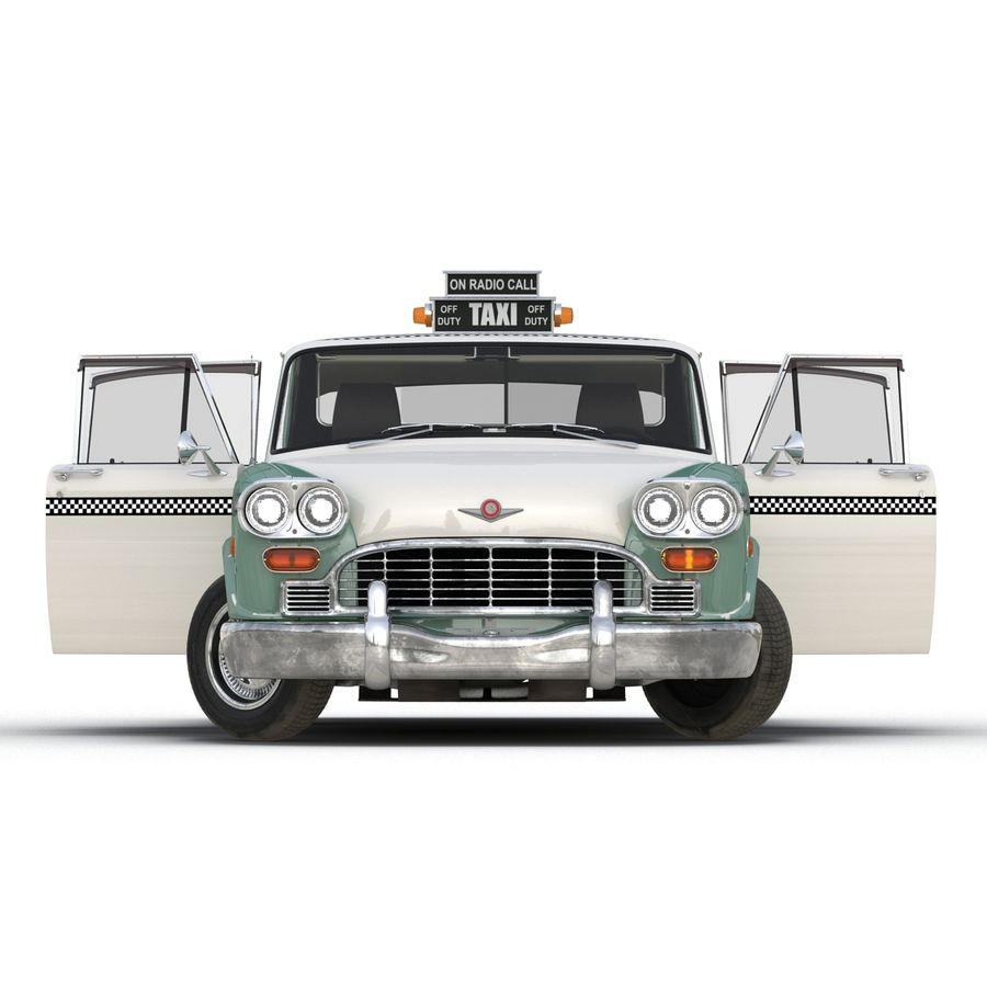 Checker Taxicab 1982 royalty-free 3d model - Preview no. 7