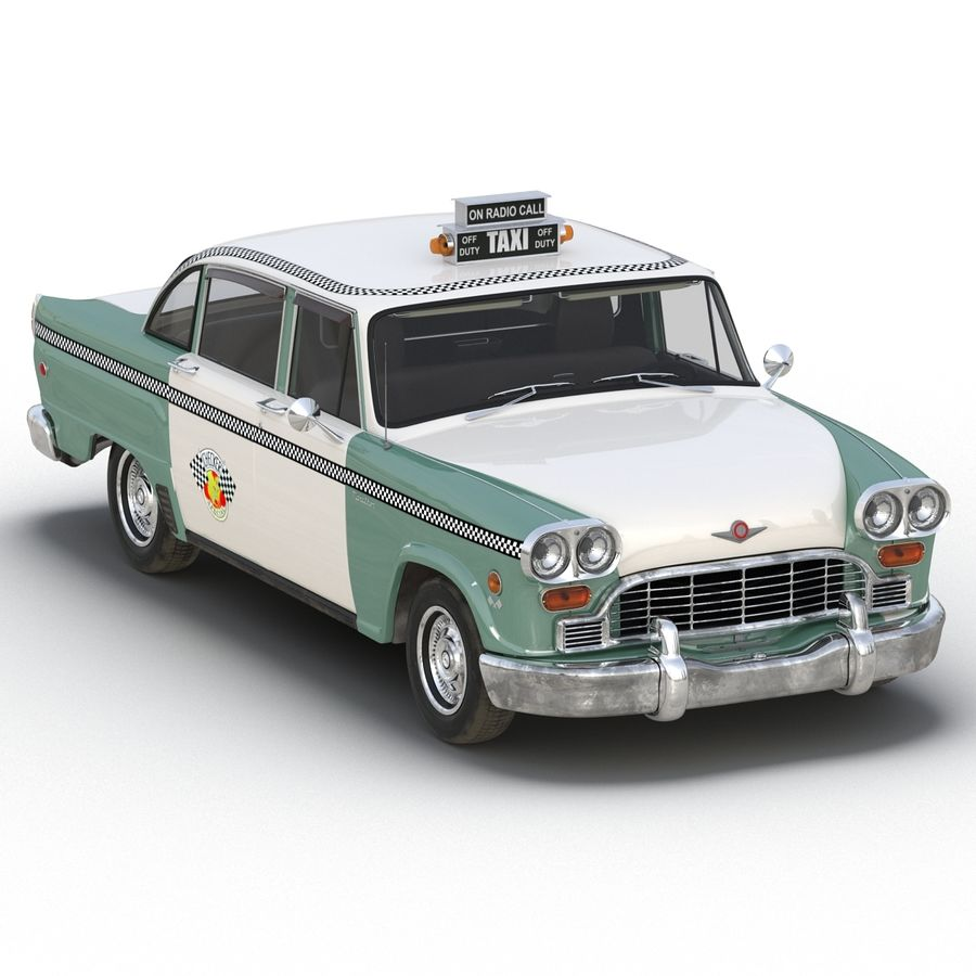 Checker Taxicab 1982 royalty-free 3d model - Preview no. 16