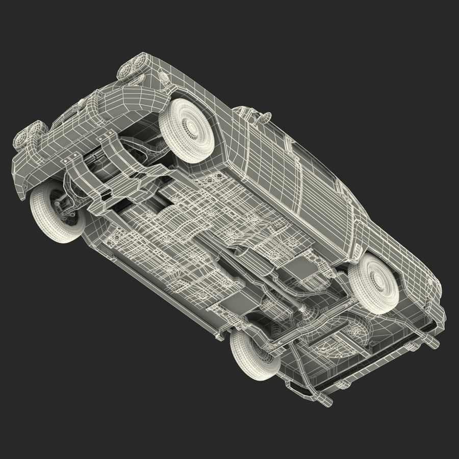 Checker Taxicab 1982 royalty-free 3d model - Preview no. 53