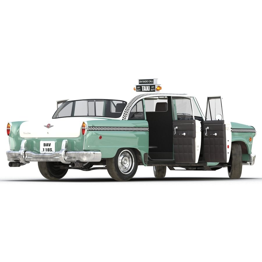 Checker Taxicab 1982 royalty-free 3d model - Preview no. 11