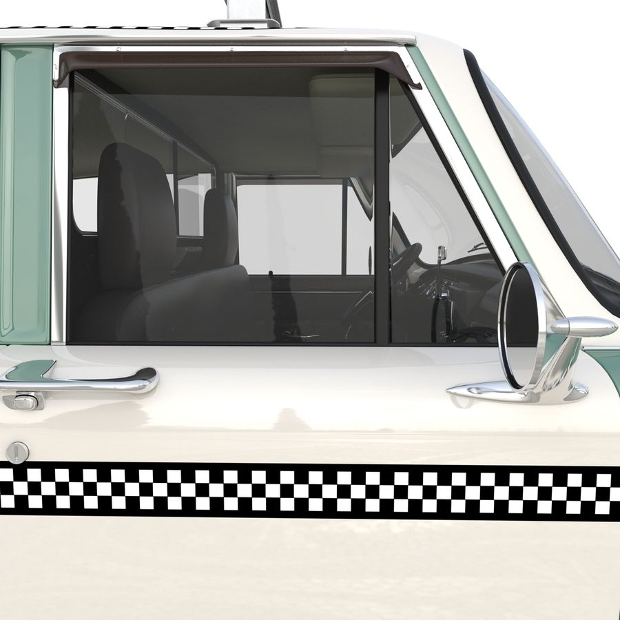 Checker Taxicab 1982 royalty-free 3d model - Preview no. 30