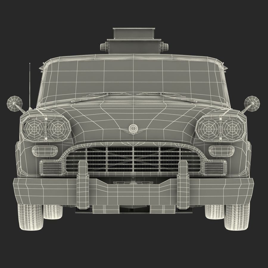 Checker Taxicab 1982 royalty-free 3d model - Preview no. 45