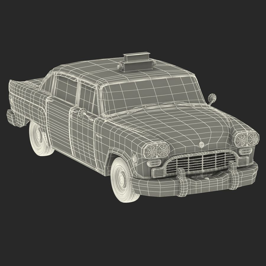 Checker Taxicab 1982 royalty-free 3d model - Preview no. 50