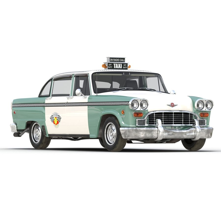Checker Taxicab 1982 royalty-free 3d model - Preview no. 8