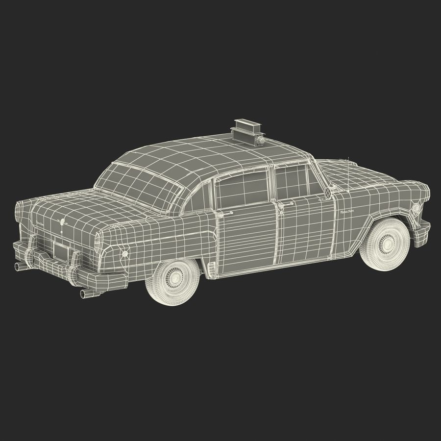 Checker Taxicab 1982 royalty-free 3d model - Preview no. 51