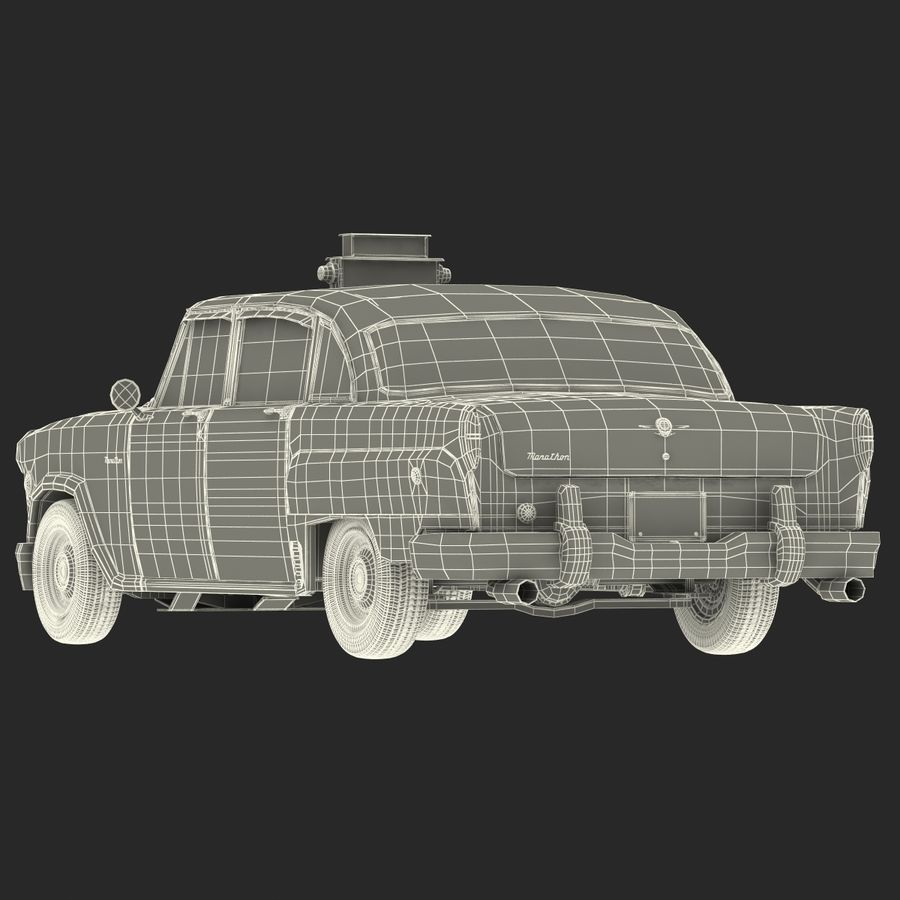 Checker Taxicab 1982 royalty-free 3d model - Preview no. 48