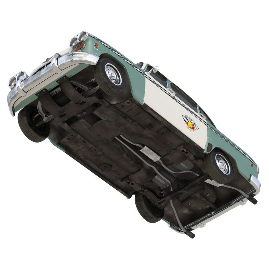 Checker Taxicab 1982 royalty-free 3d model - Preview no. 20