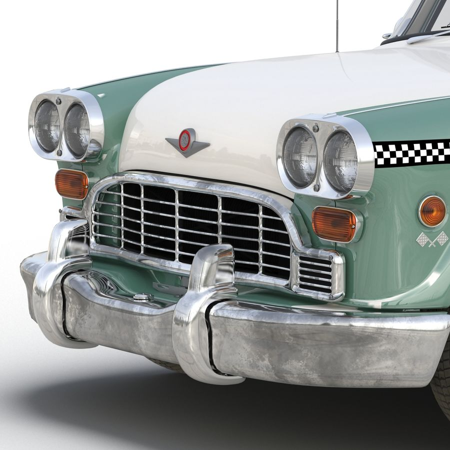 Checker Taxicab 1982 royalty-free 3d model - Preview no. 25