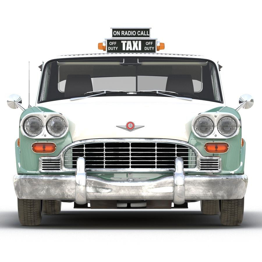 Checker Taxicab 1982 royalty-free 3d model - Preview no. 6