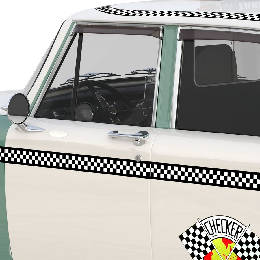 Checker Taxicab 1982 royalty-free 3d model - Preview no. 23
