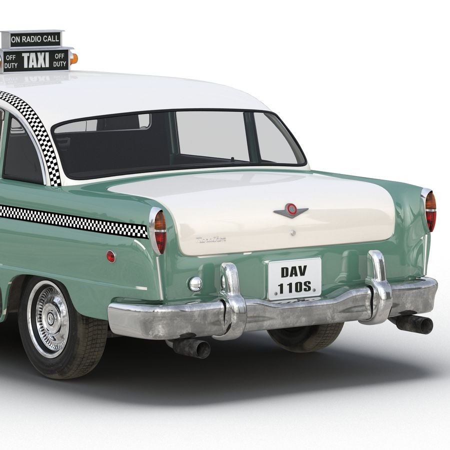 Checker Taxicab 1982 royalty-free 3d model - Preview no. 21