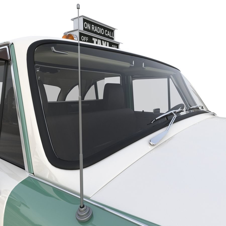 Checker Taxicab 1982 royalty-free 3d model - Preview no. 31