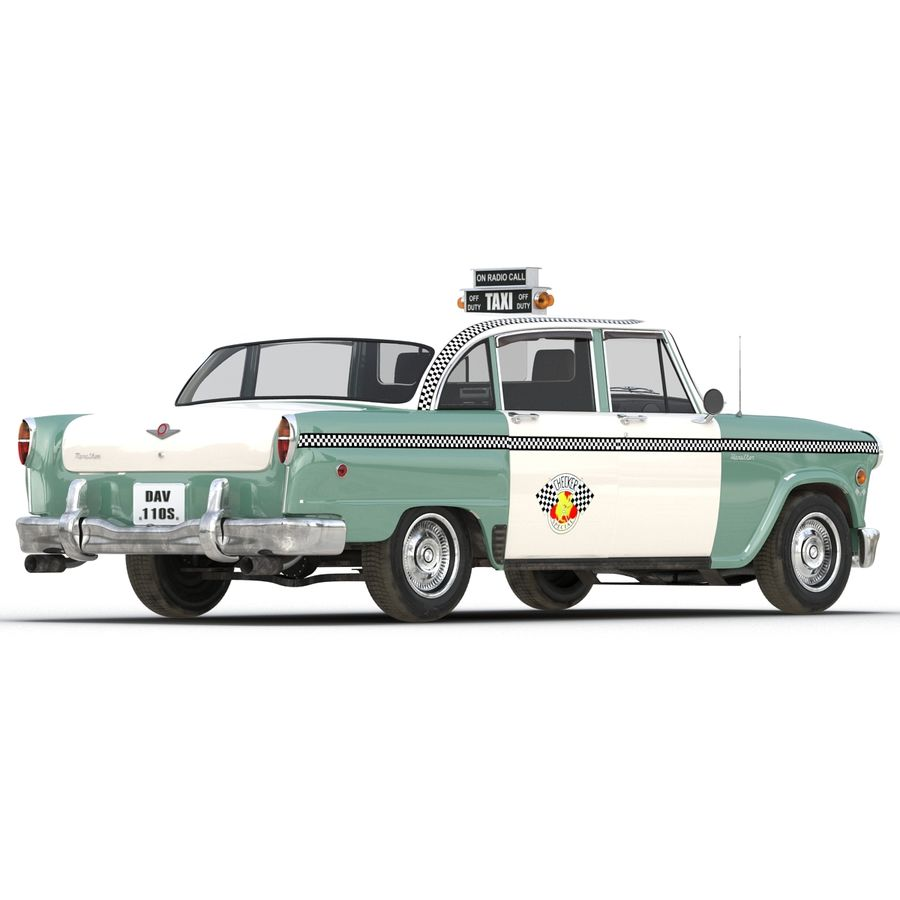 Checker Taxicab 1982 royalty-free 3d model - Preview no. 10