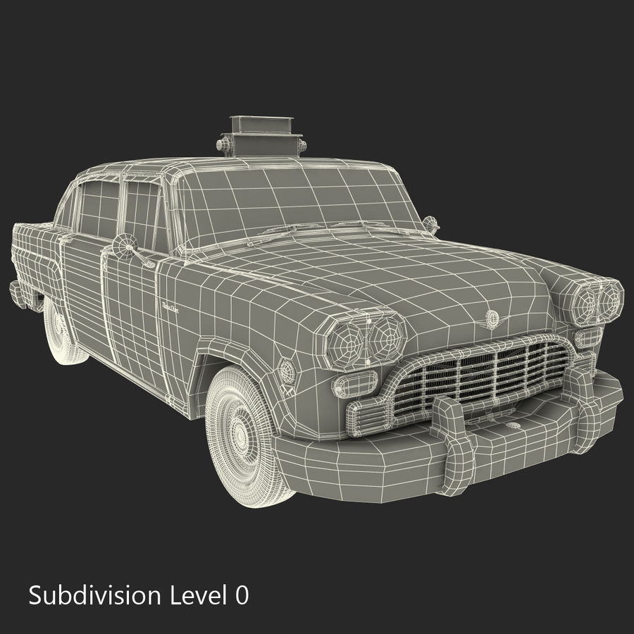 Checker Taxicab 1982 royalty-free 3d model - Preview no. 39