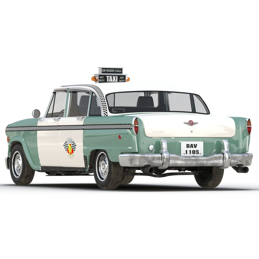 Checker Taxicab 1982 royalty-free 3d model - Preview no. 13