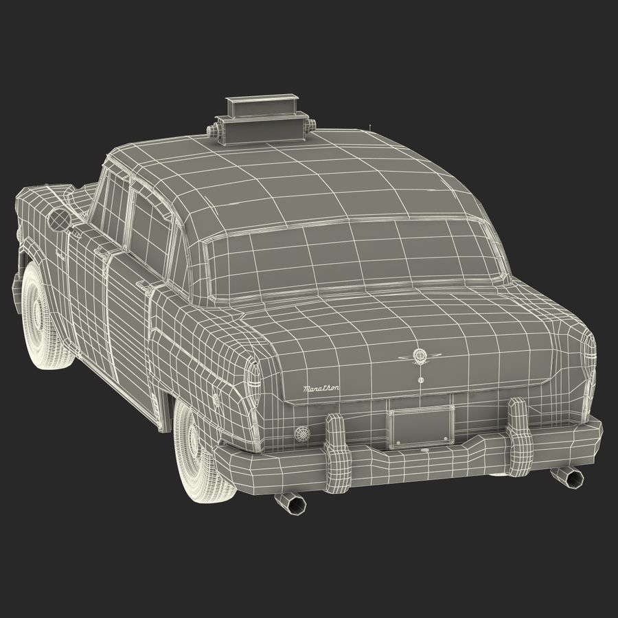 Checker Taxicab 1982 royalty-free 3d model - Preview no. 52