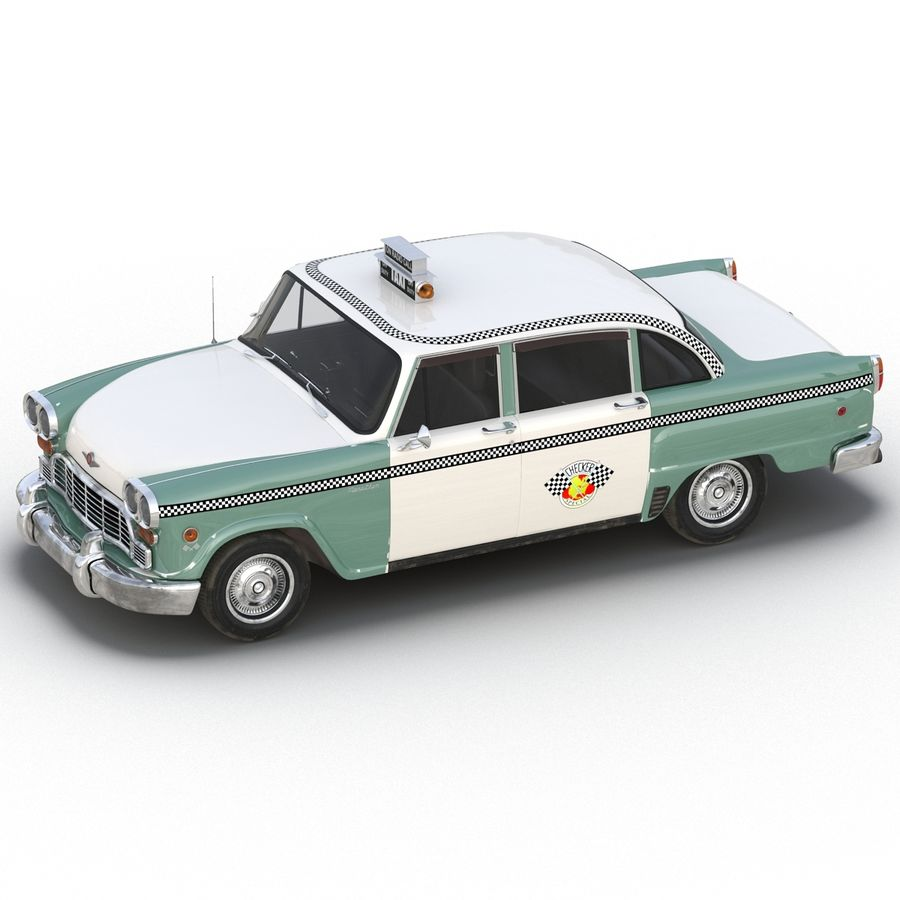 Checker Taxicab 1982 royalty-free 3d model - Preview no. 15