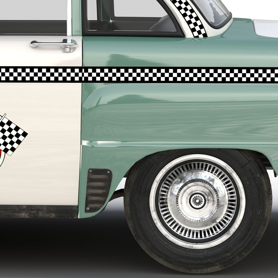 Checker Taxicab 1982 royalty-free 3d model - Preview no. 22