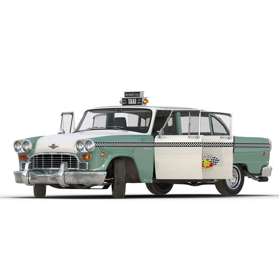 Checker Taxicab 1982 royalty-free 3d model - Preview no. 5