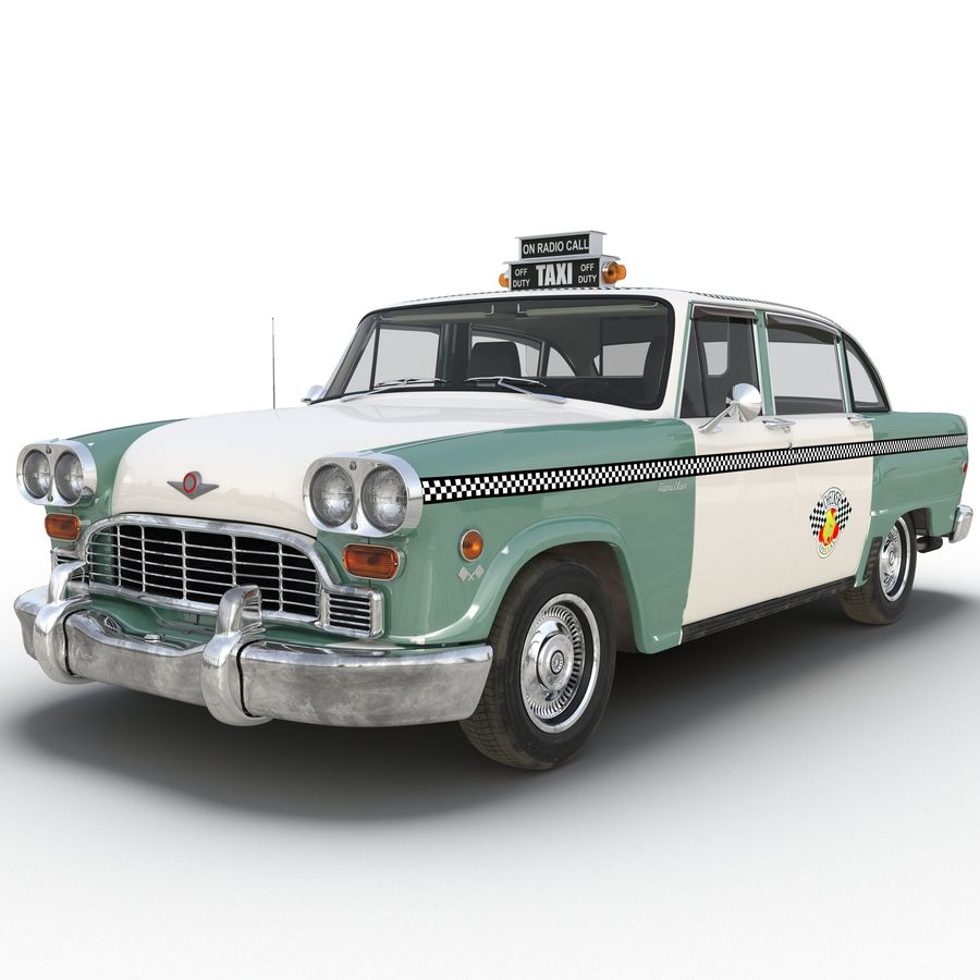 Checker Taxicab 1982 royalty-free 3d model - Preview no. 2