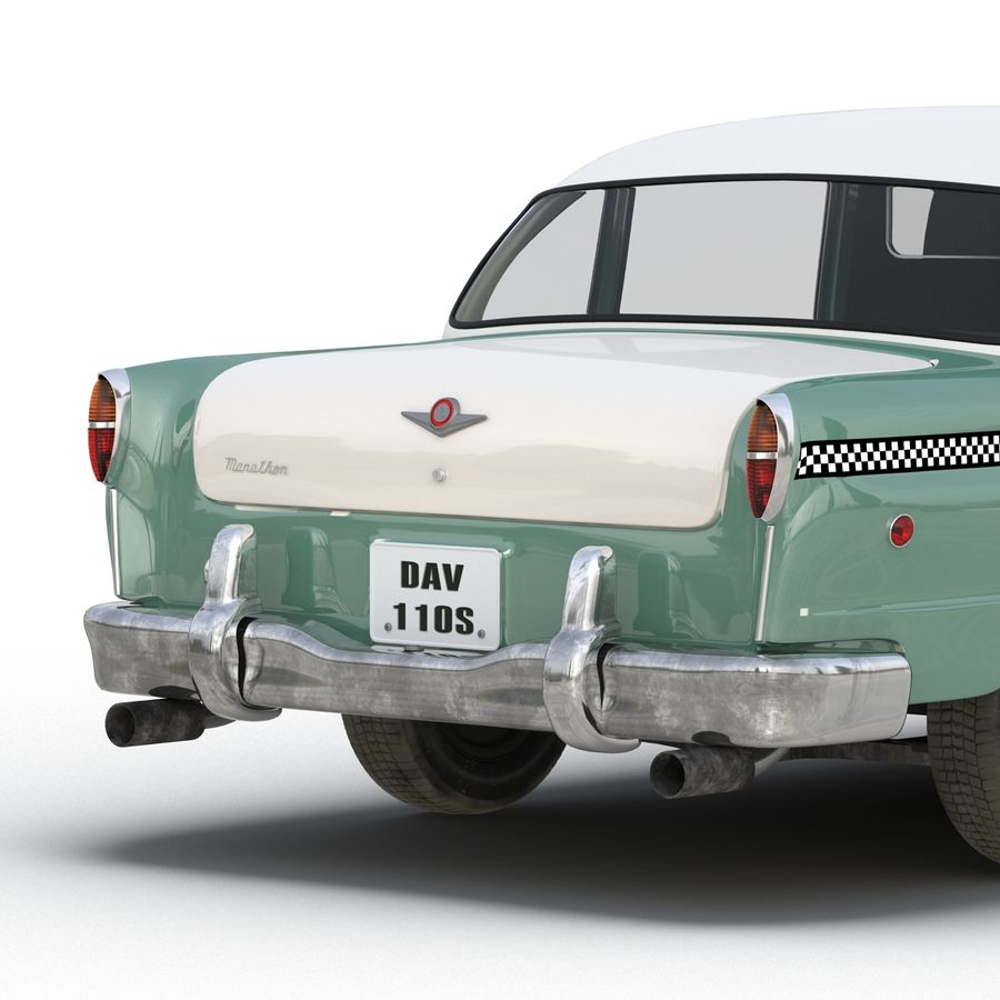 Checker Taxicab 1982 royalty-free 3d model - Preview no. 28