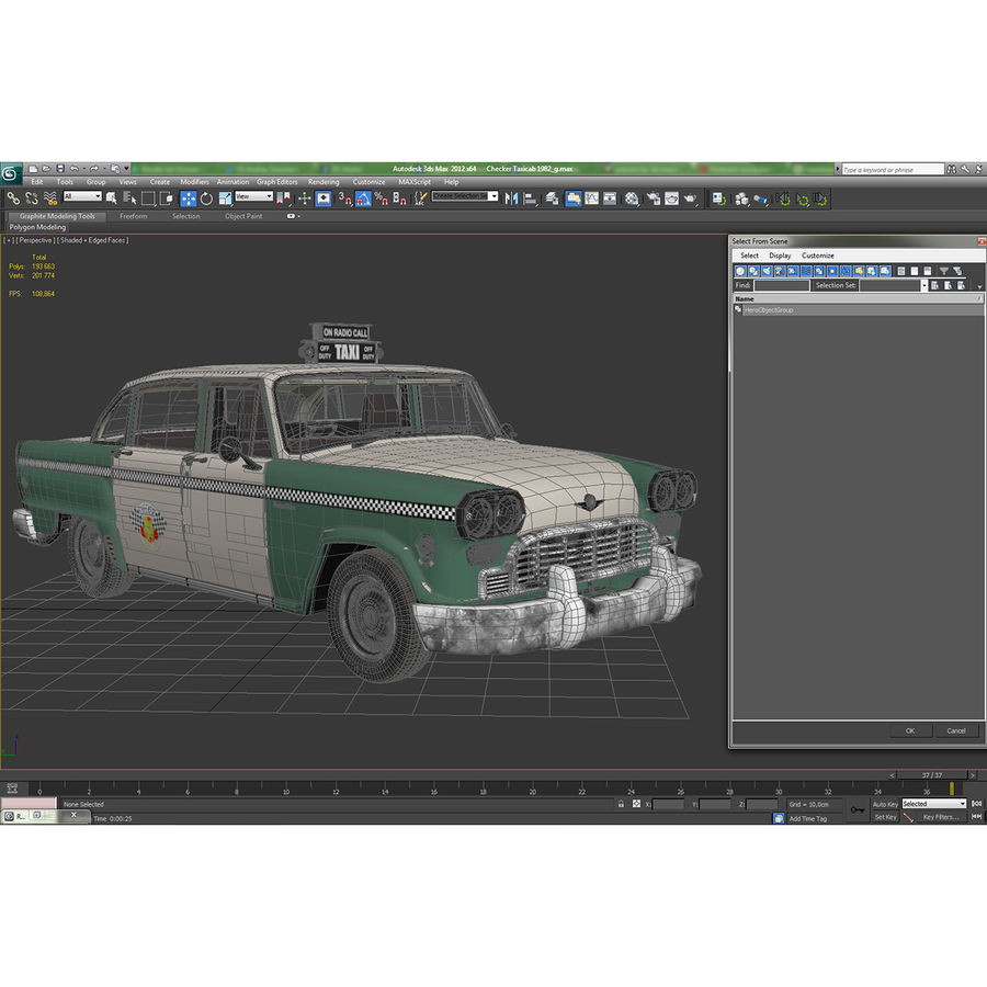 Checker Taxicab 1982 royalty-free 3d model - Preview no. 44