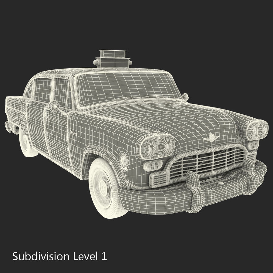 Checker Taxicab 1982 royalty-free 3d model - Preview no. 40
