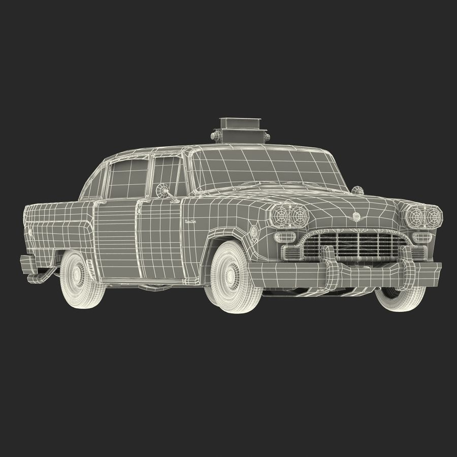 Checker Taxicab 1982 royalty-free 3d model - Preview no. 46