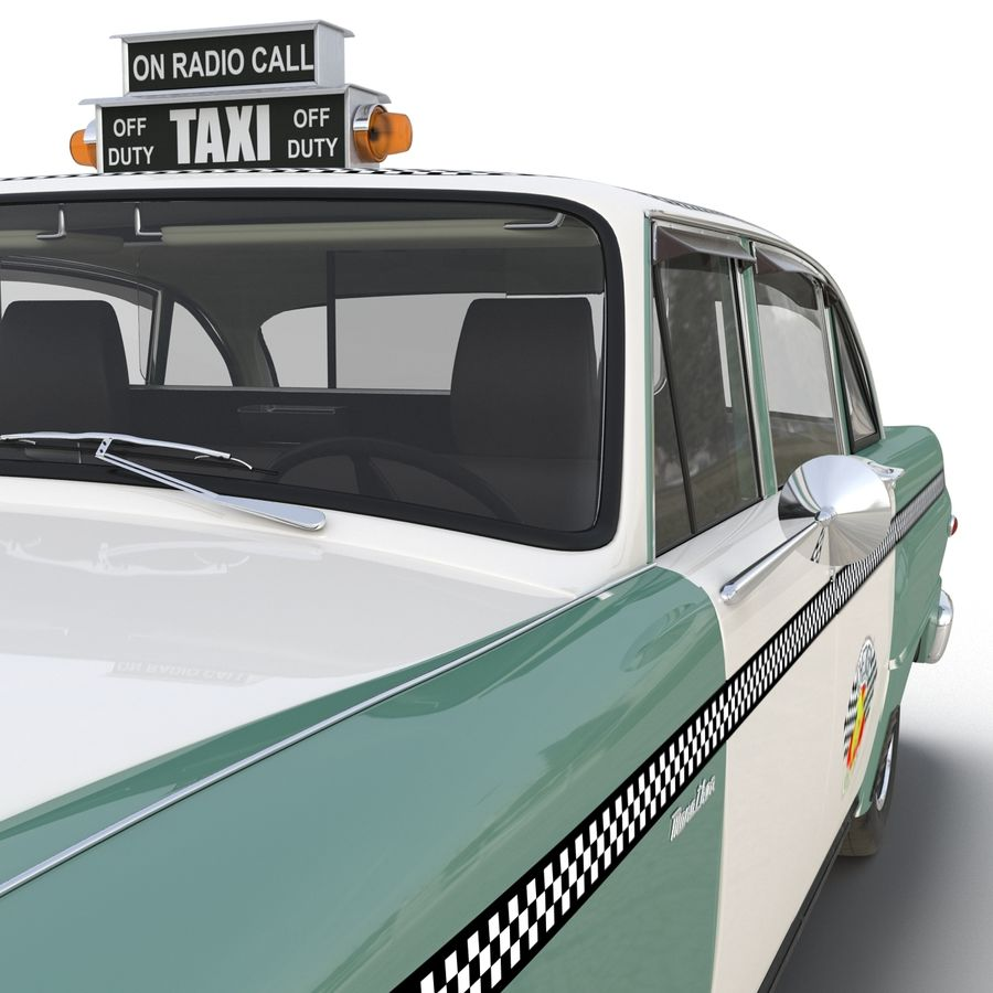Checker Taxicab 1982 royalty-free 3d model - Preview no. 32